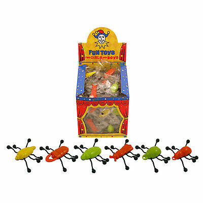 Insect Walkers Window Bug Crawlers Party Loot Bag Pinata Kids Prank Toy 6,12, 24