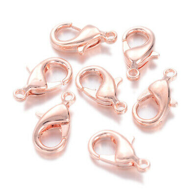 20pcs Rose Gold Color Brass Lobster Claw Clasps Trigger Clasp 12x7mm Top Quality