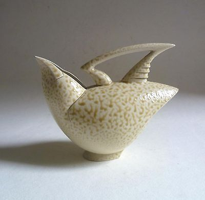 ANTHONY THEAKSTON Speckle Glazed Wren BIRD JUG. Studio Art Pottery AF