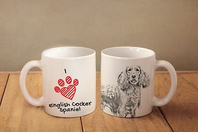 "Englische Cocker Spaniel - ein Becher ""I love"" Subli Dog, DE"