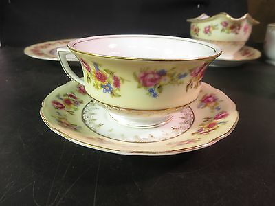 Vintage Gold Castle Hostess  Cup & Saucer Made in Japan