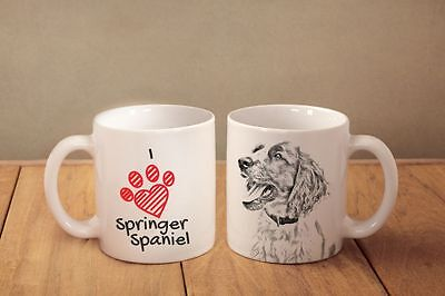 "Springer Spaniel - ein Becher ""I love"" Subli Dog, DE"