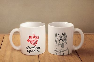 "Clumber Spaniel - ein Becher ""I love"" Subli Dog, DE"