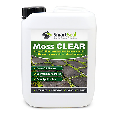 Moss/ Killer/Remover for Roofs Easy Application Non Hazardous