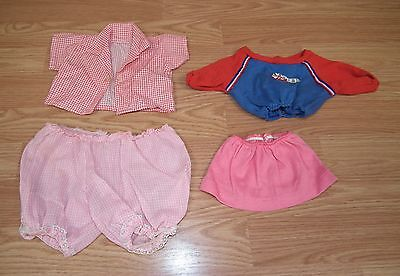 LOT OF 4: Unbranded/Generic Multi-Color Doll Clothes Only **READ**