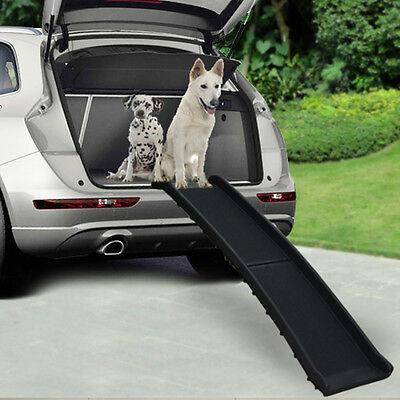 Bi Fold Dog Pet Ramp Plastic Folding Lightweight Strong Travel Transport Car Van