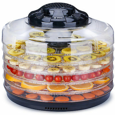 Professional 5 Tray Food Dehydrator Fruit Dryer Machine Thermostatic Control New