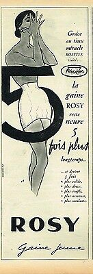 F- Publicité Advertising 1955 La gaine Rosy