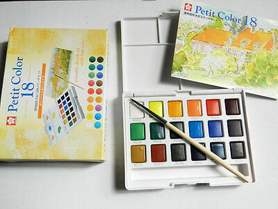 Sakura Petit  Quality 18 Water Colour Pocket Size Sketch Traveller Set