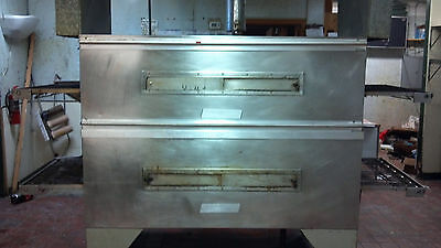 Mastermatic MG32 Double Stack Conveyor Pizza Ovens Natural Gas TESTED