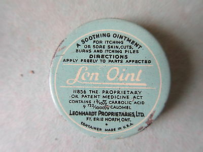 Old Vintage Sample Advertising Tin Sen-Oint Ointment Ft.Erie Ontario