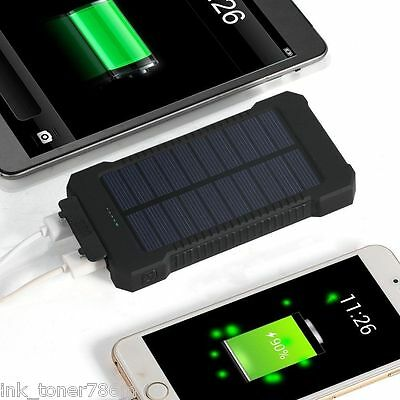 NEW 300000mAh DualUSB Portable Solar Battery Charger For All Smart Phones-RED