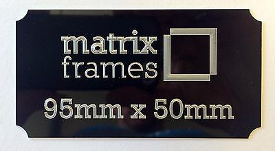 95  x 50 mm Engraved Plaque *Any inscription can by supplied* Trophies Frames