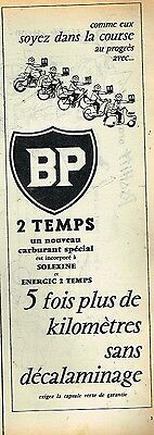 G- Publicité Advertising 1955 Le Carburant BP 2 Temps