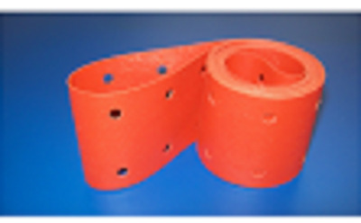 16014-002  Heat Resistant Red Silicone,Wide Vacuum Belt for use w/Surefeed