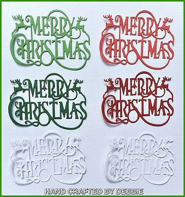 Merry Christmas Die Cuts X 8,xmas,card Making,embellishments,toppers,santa,album