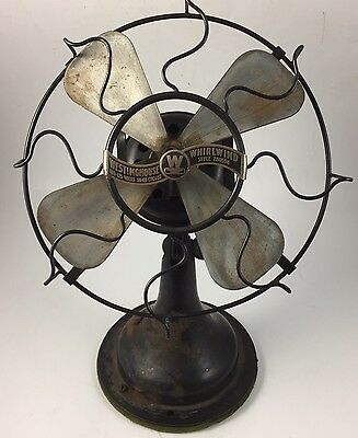 Antique Fan Westinghouse Whirlwind  280598 9 Inches Parts Or Restoration