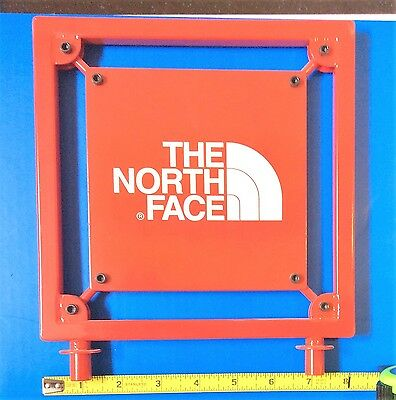 """THE NORTH FACE SKI AND SPORTSWEAR ADVERTISING STEEL METAL SIGN 8"""" square"""