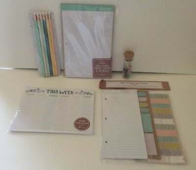 Target Dollar Spot Planner Accessories set Page Flag Kikki k, Filofax, Erin Kate