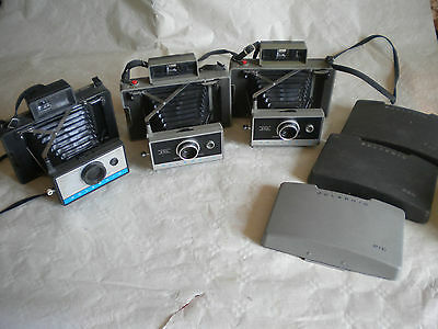 Vintage Polaroid Land cameras 210 and 2 x 330