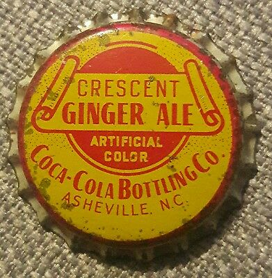 CRESCENT GINGER ALE soda bottle cap unused cork Coca Cola