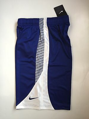 Nike Boys Youth Basketball Athletic Shorts M Blue / Gray/ White - NWT
