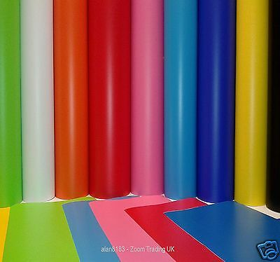 50% Off A4 Sht, 1M & 5M Rolls Self Adhesive Sign Vinyl Sticky Back Plastic