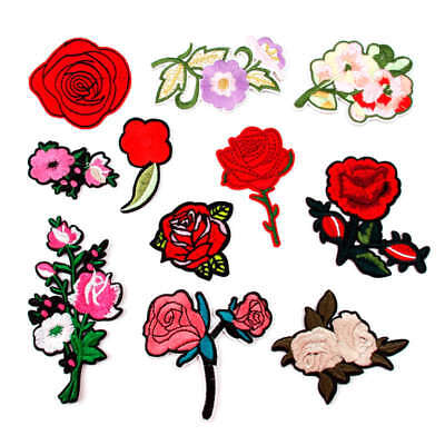 Embroidered Sew Iron On Patch Badge Bag Cloth Dress Fabric Applique Crafts DIY