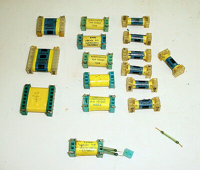 Lot 17 Vintage Reed Relays Glass Switches, 40 Reeds Security? Read