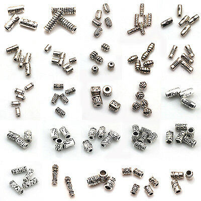 Wholesale 5-150pcs Silver Plated Loose Spacer Beads Charms Jewelry Making DIY