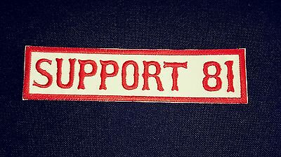 Support 81 Patch Mighty Red & White Supporter!!!! Long Patch Red Border.