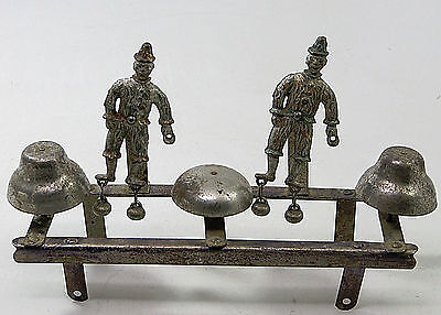 Antique Watrous Cast Iron Clown Bell Pull Toy Parts Repair