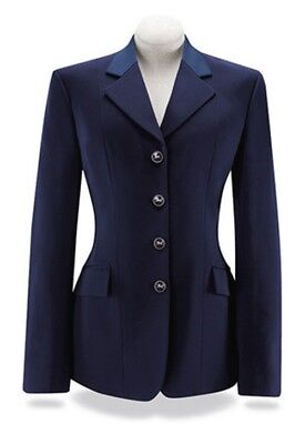 RJ Classics Ladies Navy Palm Soft Shell Show Coat with Blue Collar