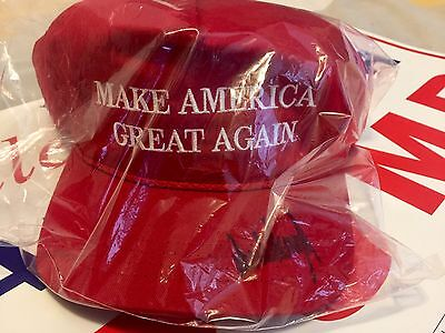 Donald Trump Autographed Make America Great Again Hat President 2016