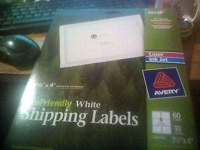 """Lot of 2 Avery 48264 Eco Friendly Shipping Labels 3 1/3""""x4"""""""