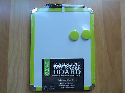 Dry Erase Board with Marker & Mini Eraser 8.5x11 Whiteboard