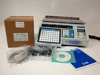 New CAS LP-1000N Label Printing Scale - Free Shipping + Case of 8010 Labels!