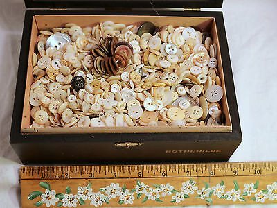 Nearly 5 Lbs Antique Vtg MOP Buttons Mother Pearl Shell - Estate LOT