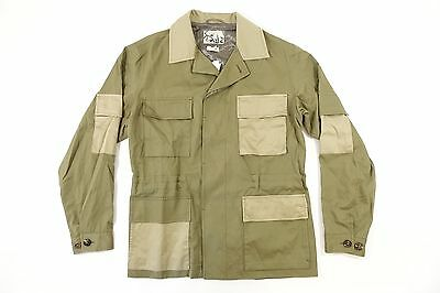 Marc Jacobs Italy S84Am0267 Green Beige Large 50 Ottoman Field Jacket Mens Nwt