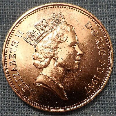 Great Britain  1987   Two 2 Pence KM#936    Brilliant Uncirculated