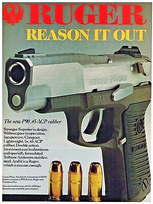 RUGER P90 45 acp pistol Slide stop as seen stainless