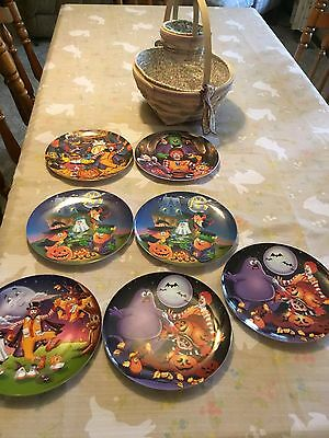 McDonald's Collector Halloween Plates Set Of Seven