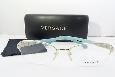 9db8708dbc4e VERSACE WOMEN'S GOLD Glasses with case MOD 1230-B 1362 52mm - $87.68 ...