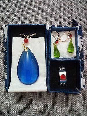 Howl/'s Moving Castle Howl Cosplay Anime Necklace Earring Ring Beautiful Gift 4pc