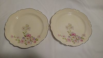Vintage Homer Laughlin Floral Plates set of 2