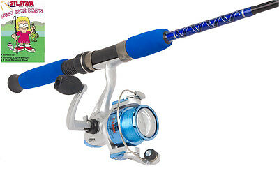 Silstar Kids ''Just Like Dad's '' Rod & Reel fishing Combo Blue Boys gift