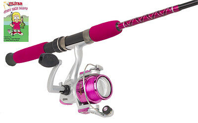Silstar Kids ''Just Like Dad's '' Rod & Reel fishing Combo PINK GIRLS gift
