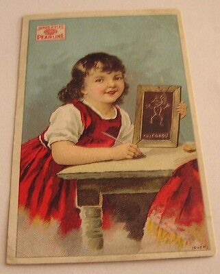 """Victorian Trade Card, James Pyle's """" Pearline """" Washing Compound Great Graphics"""