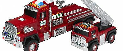 2015 Hess Toy Fire Truck And Ladder Rescue,  New In The Box