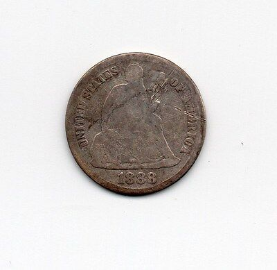 1888-S Seated Liberty Dime, 10 cents Silver #974